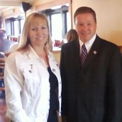Cheryl Patry and (then) Representative Ross