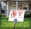Pesticides on lawn