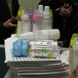8490 bottles and messages delivered to Governor Patrick